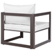 Fontana Brown + White Modern Outdoor Chair - Back View