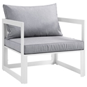 Fontana White + Gray Modern Outdoor Chair