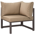 Fontana Brown + Mocha Modern Outdoor Corner Chair