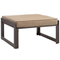 Fontana Brown + Mocha Modern Outdoor Ottoman
