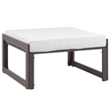 Fontana Brown + White Modern Outdoor Ottoman