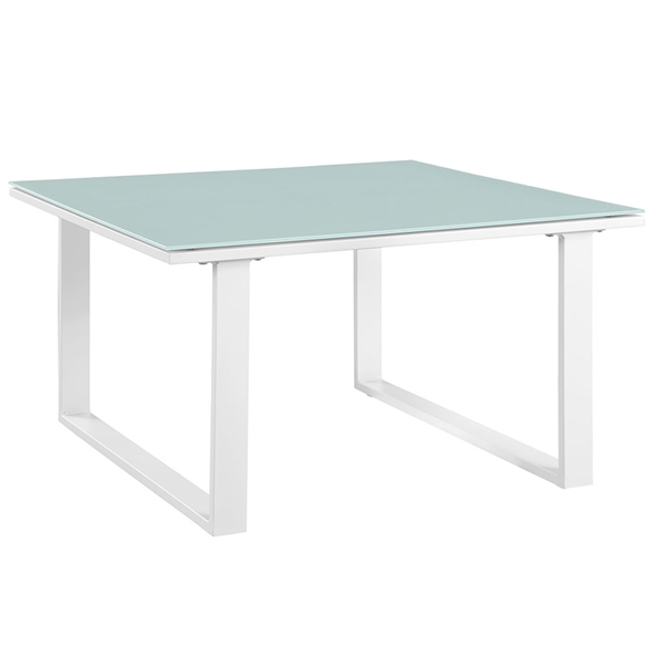 Fontana White Modern Outdoor Side Table