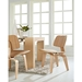 Plywood Natural Contemporary Dining Side Chair