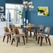 Ford Walnut Contemporary Plywood Dining Chair