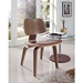 Plywood Walnut Contemporary Dining Side Chair