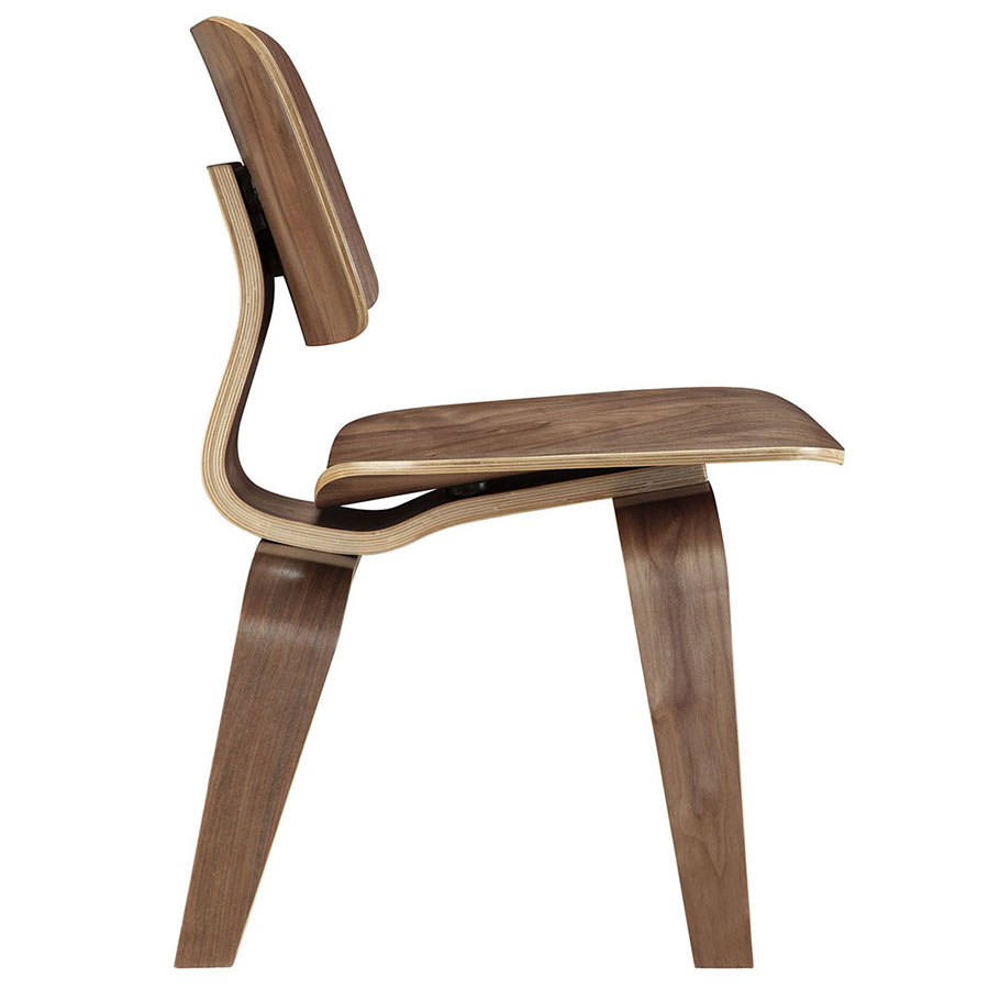Plywood Walnut Contemporary Dining Chair