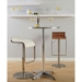 Franklin Adjustable Modern Walnut Bar Stool