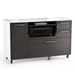 Format Charcoal Contemporary Mobile Credenza by BDI
