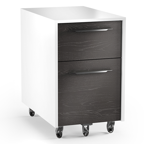 BDI Format Charcoal Modern Mobile File Cabinet