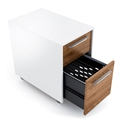 Format Mobile File Cabinet in Walnut & White by BDI