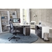 BDi Format Charcoal Veneer + White Lacquer Modern Office Set Room Setting