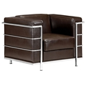 Fortress Modern Arm Chair in Espresso Leather