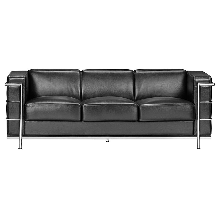 Fortress Black Modern Classic Sofa By Zuo Eurway