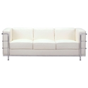 Fortress Modern Classic Leather White Sofa