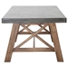 Fox Modern Wood + Cement Outdoor Dining Table