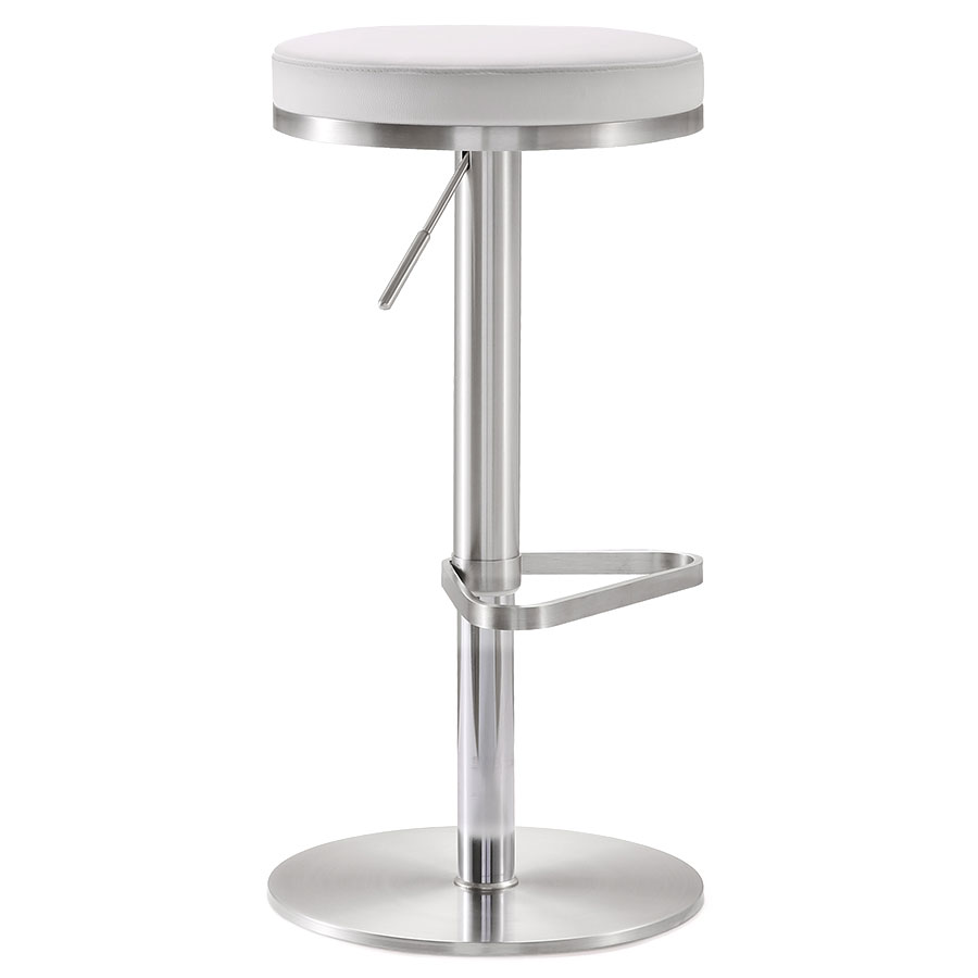 France Modern White Adjustable Height Stool
