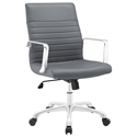 Frederick Modern Gray + Chrome Mid Back Office Chair