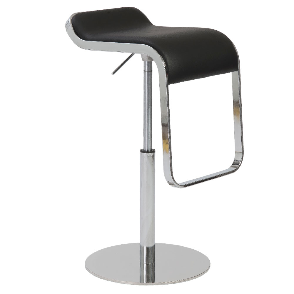 Fresno Adjustable Modern Stool in Black