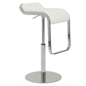 Fresno Adjustable Modern Stool in White
