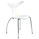 Frida White Modern Dining Chair