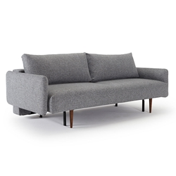 Frode Sleeper Sofa w/ Fabric Arms in Twist Granite Fabric by Innovation