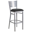 Fulsom Modern Silver + Black Bar Stool