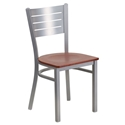 Fulsom Modern Dining Chair in Silver + Cherry