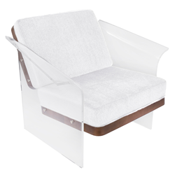 Fulton White Modern Chair