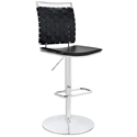 Fusion Modern Black Armless Adjustable Stool