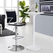 Fusion Contemporary Black Adjustable Stool