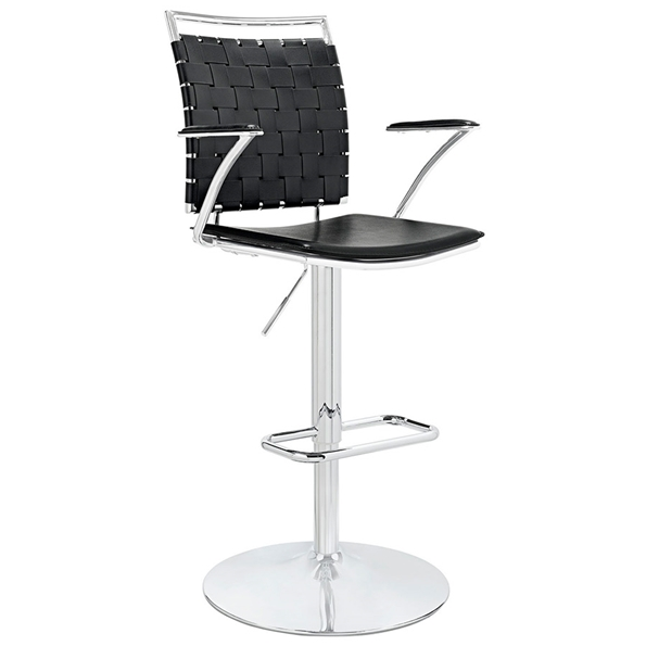 Fusion Modern Black Adjustable Stool