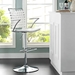 Fusion Contemporary White Adjustable Stool