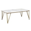 Fusion Modern Coffee Table Gold + Marble
