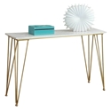 Fusion Modern Console Table Gold + Marble