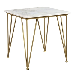 Fusion Modern End Table Gold + Marble