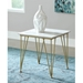 Fusion Contemporary Gold + Marble End Table