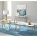 Fusion Contemporary Gold + Marble Tables