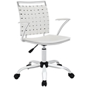Fusion Modern White Office Chair