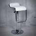 Fussa Modern White Adjustable Bar + Counter Stool