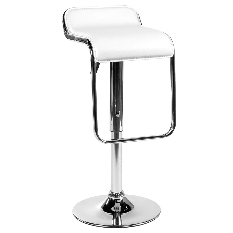 Fussa Modern Adjustable Stool In White