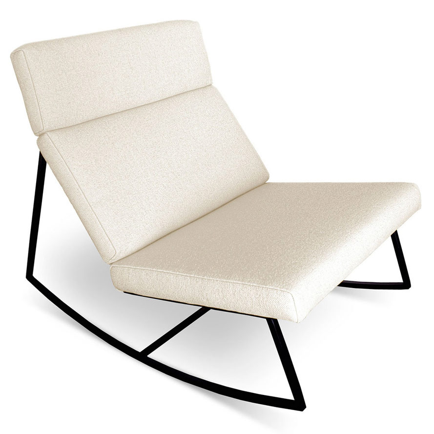 GT Rocker Contemporary Lounge Chair in Cabana Husk