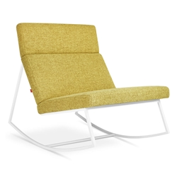 GT Rocker Contemporary Lounge Chair in Bayview Dandelion by Gus* Modern