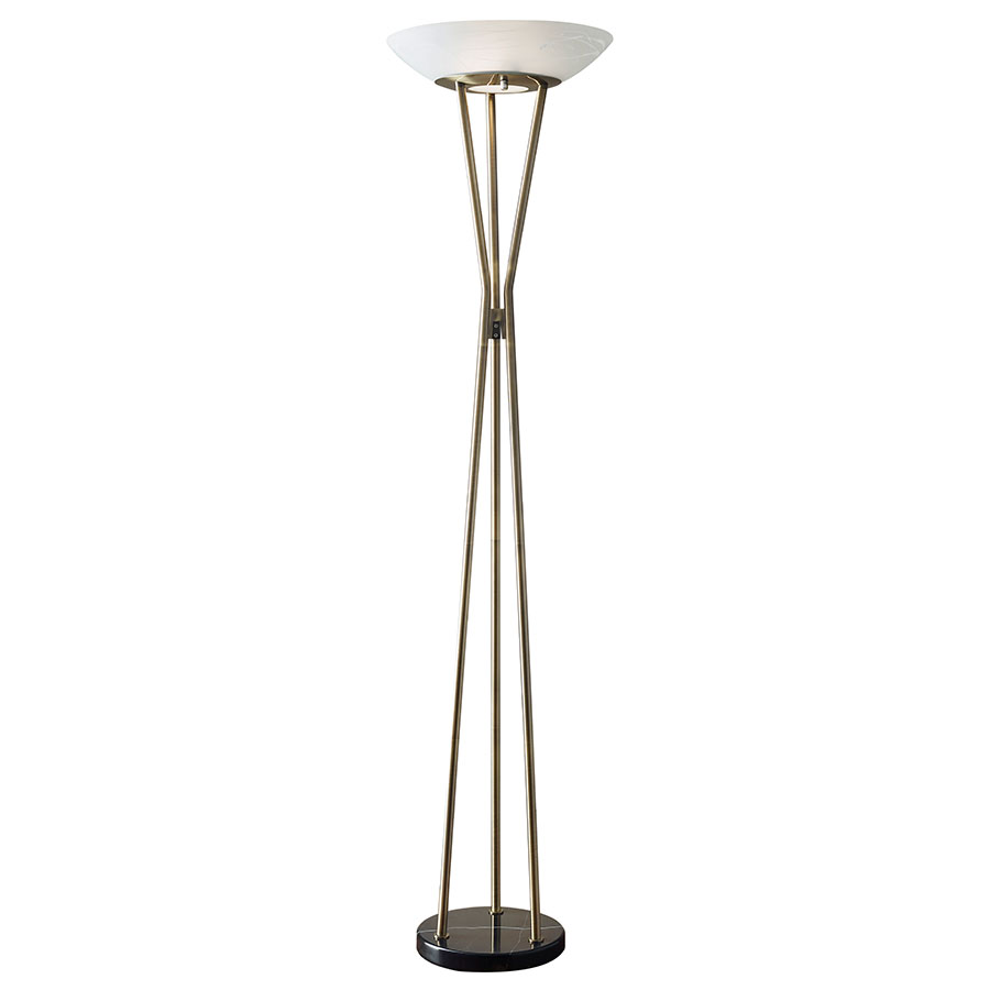 Gaben Brass Modern Floor Lamp