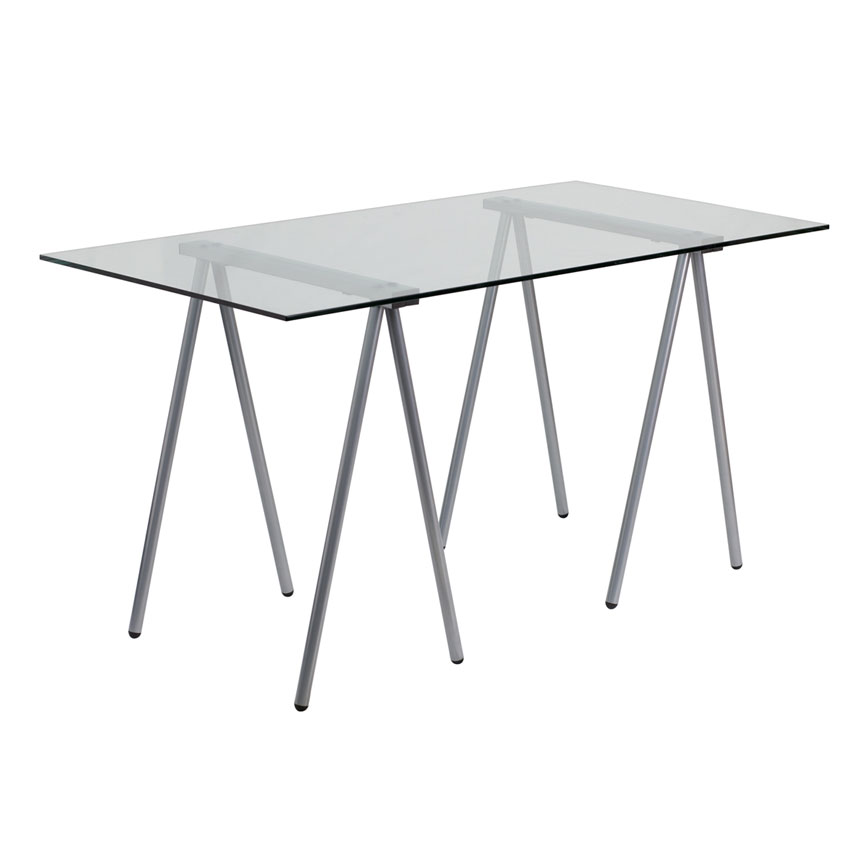 Gabino Modern Glass Desk