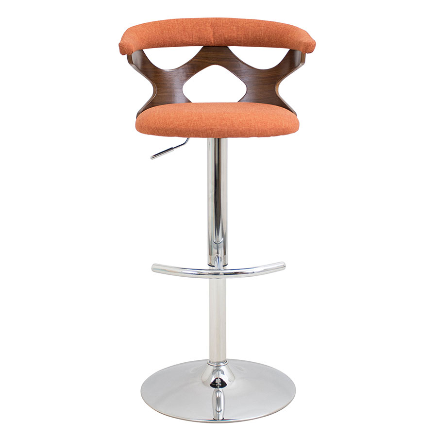 Modern Stools Gad Orange Adjustable Stool Eurway