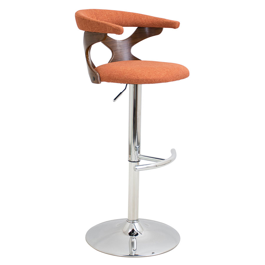 Gad Orange Modern Adjustable Stool