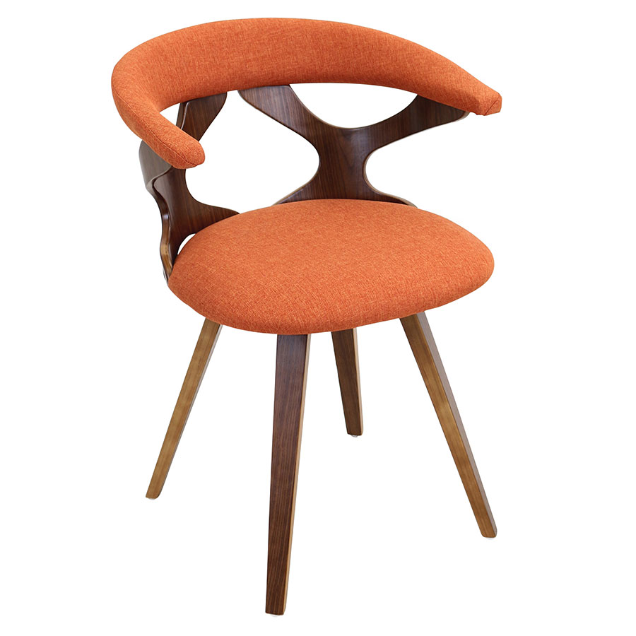 Gad Orange Modern Arm Chair