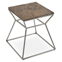 Gakko Modern End Table w/ Brown Marble Top by sohoConcept