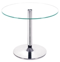 Galaxy Modern Glass + Chrome Dining Table