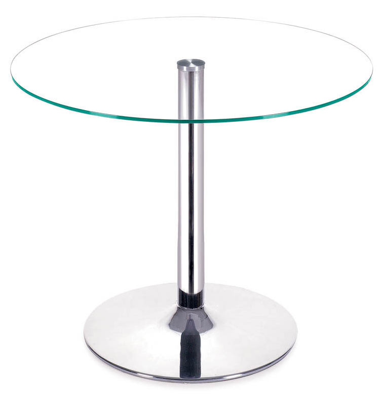 Gallant Modern Glass + Chrome Dining Table